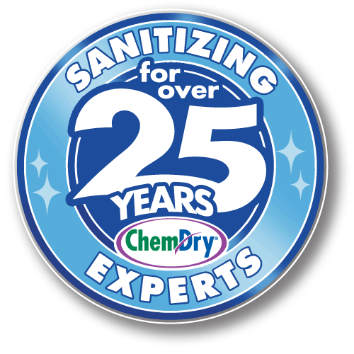 Sanitizing for 25 years badge